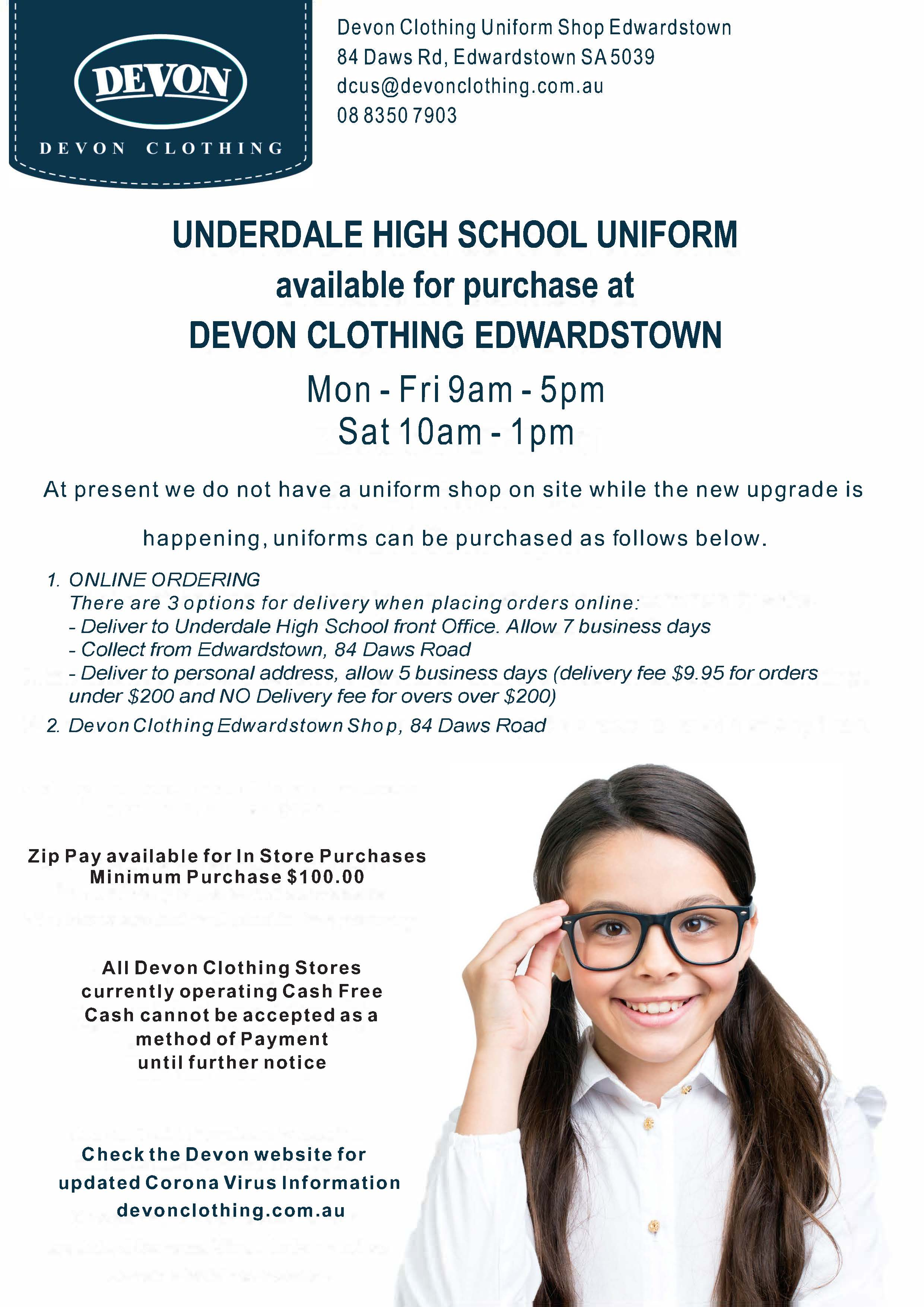 devon uniform alternative shop